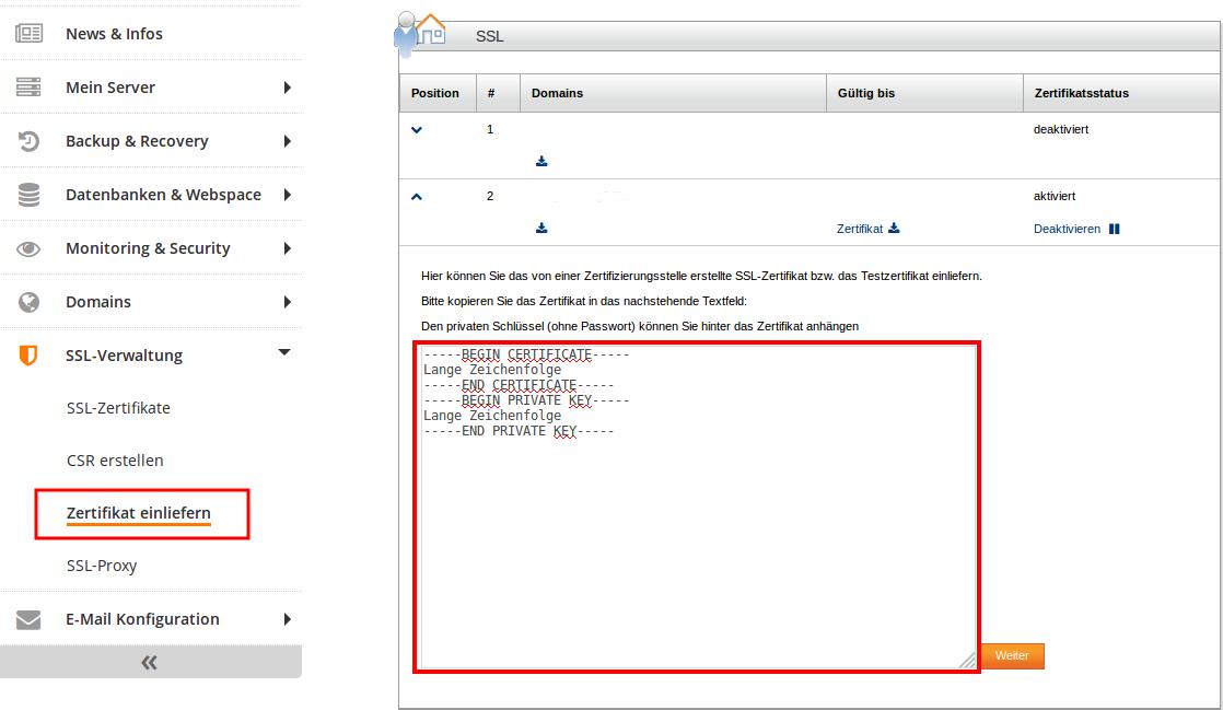 Let\'s Encrypt Zertifikat extern erstellen und beim Hoster einliefern ...